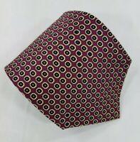 Polo Ralph Lauren Silk Tie Purple Geometric Handmade in USA