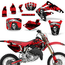 Decal Graphic Kit Honda MX CR85R Bike Sticker Wrap with Backgrounds 03-07 REAP R