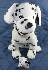 "16"" DALMATIAN DOG With 4"" PUPPY Stuffed Plush Toy Mom KIDS OF AMERICA Red Collar"