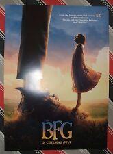 THE BFG POSTER Movie Cinema Film *NEW A3 Unfolded ROALD DAHL Matilda ET Disney 1