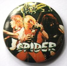 SPIDER Old Vtg 1980`s Button Pin Badge 25mm(not shirt LP CD patch)