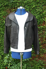 Excellent condition unusual Style Soft black real leather jacket size 12 to 14