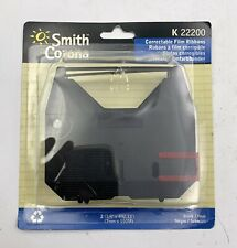 New Genuine Smith Corona KA22200 Black Typewriter Correctable Film Ribbon (2 pk)