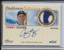 2017 TOPPS HERITAGE COREY SEAGER 2-COLOR JERSEY & AUTOGRAPH #D25/25 1/1 DODGERS