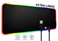 LED Extra Large Soft Gaming Mouse Pad RGB Oversized Glowing 9 Colors 31.5 X 12''