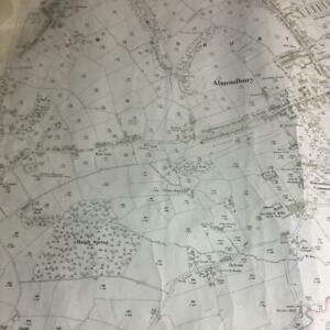Map 1932 Almondbury map 1/2500 surveyors map with marks and ware see photos