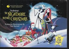 1993 The Nightmare Before Christmas Disney Video Booklet