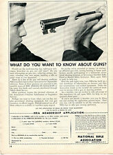 1960 Print Ad of NRA National Rifle Association Membership Application