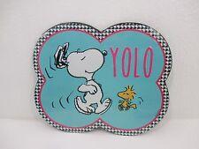 Snoopy Woodstock Peanuts Yolo Retro Vintage Metal Tin Sign