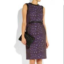Christopher Kane Leopard Print Dress w/ Leather Detail, 14