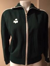 ISABEL MARANT ÉTOILE DARCY 34/2 Forest Green Sporty Knit Track Jacket  #1910