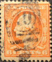 Scott #379 US 1911 6c Washington Postage Stamp Perf 12 VF