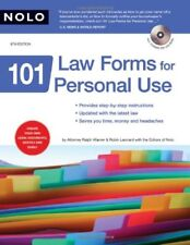 101 Law Forms for Personal Use (Book & CD-Rom)