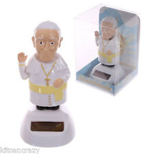 NOVELTY SOLAR POWERED DANCING /  WAVING POPE, DASHBOARD TOY, HOME OR CAR