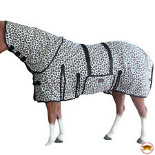 C-0-69 69 In Horse Fly Sheet Uv Protect Mesh Bug Mosquito Summer Leopard Print