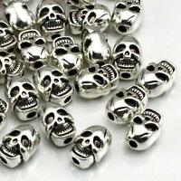 25pcs 7x10mm silver plated Skull beads Craft Beading Jewellery Craft