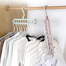 9 Holes Multi Hanger Rotate Space Saver Coat Clothes Folding Rack Hook Wardrobe