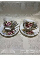 Paragon Majesty The Queen,Royal Sutherland Stafford.Tea Cups And Saucers,England