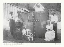 """Kentucky Postkarte """" der 4th Kentucky Infanterie Battle Flagge """" (9-KY)"""