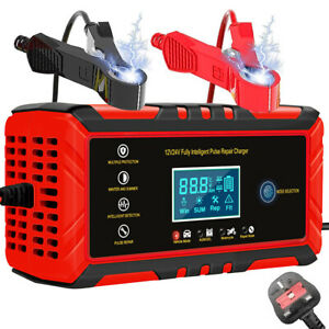 8A 12V Smart Intelligent Car Battery Charger Automatic Pulse Repair Jump Starter