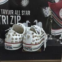 Converse All Star Mykonos [Prodotto Customizzato] Scarpe Borchiate Handmade Borc