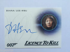 JAMES BOND 007 CLASSICS LICENCE TO KILL Diana Lee HSU Autograph Card A285