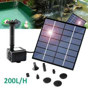 200L/H Solar Fountain with Battery Pump Pond Pump Water Feature Fountain Set