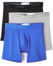 NWT Calvin Klein. Sz M. Men's 3 Pack. Microfiber. Boxer Brief. Mult. MSRP $42.50