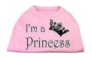 Pink Dog Tank Shirt Top I'M A PRINCESS Tee T-Shirt