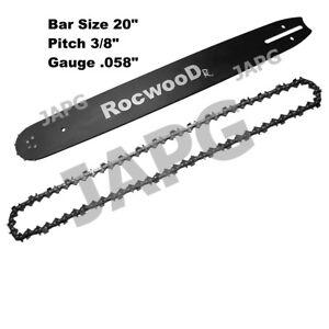 "20"" Bar & Chain Set, Husqvarna 61, 66, 266, 272, 281, 288, 1100, 2100 Chainsaw"