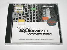 Microsoft SQL Server 2000 Developer Edition Release A X09-55854 Good Condition