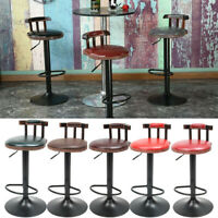Industrial Vintage Rustic Retro Swivel Counter Bar Stool Cafe Chair Backrest