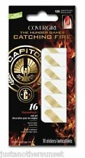 Hunger Games Catching Fire Covergirl Nail Art 120 Seared Bronze Gold Stripes