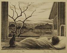 "H. O. Robertson ""Winter Dawn"" Lithograph  Rare Print from Member of Dallas Nine"