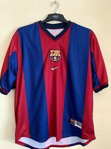 Barcelona Home Shirt 1998/1999 Original Plain Size Large Nike