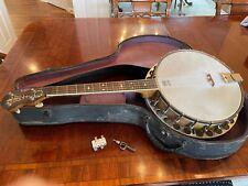 "Tenor ""Magic Wonder"" Banjo Bruno NY 1920s with Original Case"