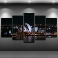 Sydney Opera House Nightscape  canvas wall print brand new 5 Pieces
