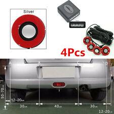 Car Parking Sensors 4pcs Adjustable 16mm Flat Sensor Reverse Backup Radar Silver