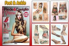 ANKLE & FEET TATTOO Reference Book 66-pages Color Photo Design Ideas Supply