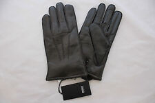 Hugo Boss  Soft Leather Gloves, Brown Large New RRP £85.00