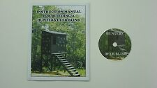 HUNTING BLIND/SHOOTING HOUSE PLANS ON DVD & 56 PAGE INSTRUCTION MANUAL