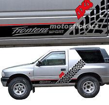 Adesivi fuoristrada 4x4 - OPEL FRONTERA SPORT - Kit adesivi FIANCATE Racing