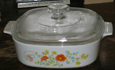 Corning WILDFLOWER 2 Liter Casserole & Lid VERY GOOD CONDITION
