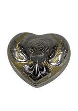 Silver/Gold Color Heart Keepsake Urn, Mini Memorial Cremation Urns for Ashes
