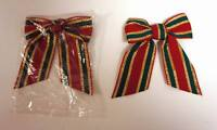 Lot of 24 Pieces - Small Fabric Christmas Ribbon + FREE SHIPPING!