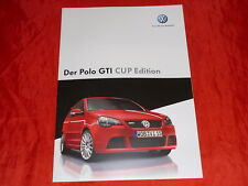 VW Polo GTI Cup Edition Sondermodell Prospekt + Preisliste von 2006