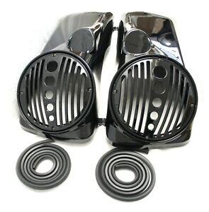 "Mutazu 8"" Speaker Lids w/ Tweeter port Fits Harley 1994-2013 Touring Models"