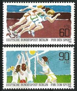 Germany Berlin 1982 MNH Sport Promotion Volleyball Sprinting Mi 664/5 SG B636/37