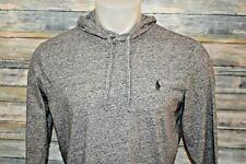 POLO RALPH LAUREN Men's L/S Lightweight Cotton Hoodie Heather Gray Size Medium
