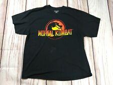 Mens Mortal Kombat Classic Big Logo T Shirt Size XXL 2XL